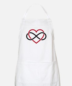 Infinity heart, never ending love Apron