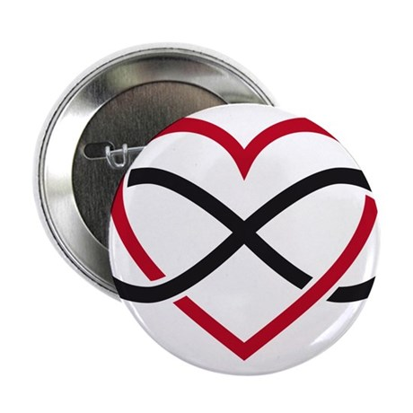 "Infinity heart, never ending love 2.25"" Button"