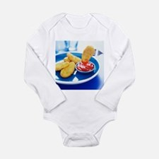 Chicken nuggets - Long Sleeve Infant Bodysuit
