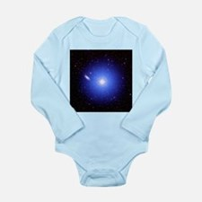 Galaxy and star - Long Sleeve Infant Bodysuit