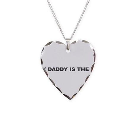 My Daddy Is The DJ Necklace Heart Charm