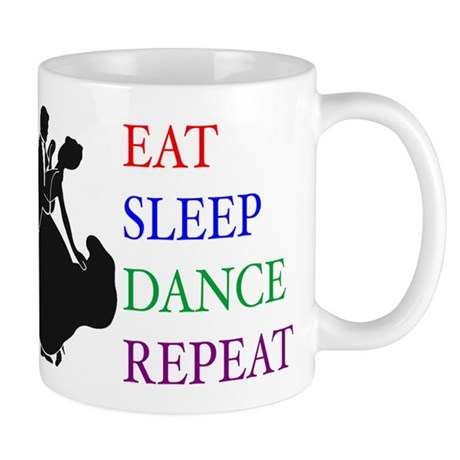 eat sleep silhouette Mugs