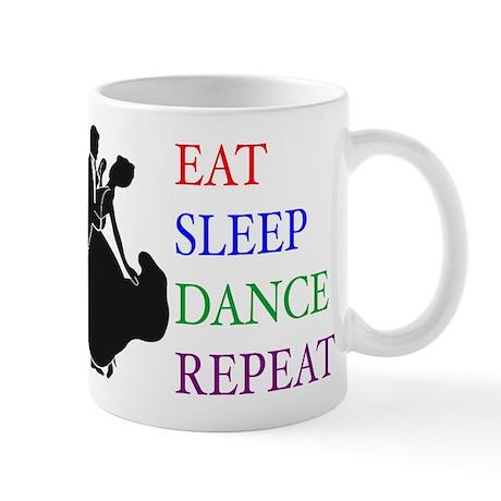 eat sleep silhouette Mugs