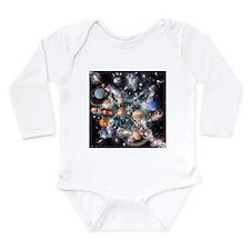 Solar system planets - Long Sleeve Infant Bodysuit