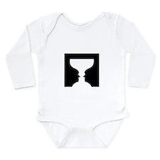 Goblet illusion - Long Sleeve Infant Bodysuit