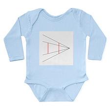 Ponzo's illusion - Long Sleeve Infant Bodysuit