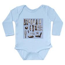 Prehistoric stone tools - Long Sleeve Infant Bodys