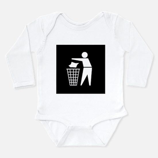 No litter sign - Long Sleeve Infant Bodysuit
