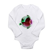 Human eye - Long Sleeve Infant Bodysuit