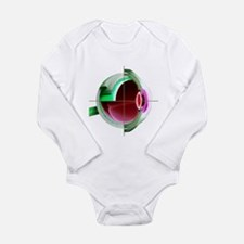 Human eye - Long Sleeve Infant Bodysuit