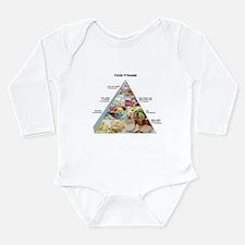 Food pyramid - Long Sleeve Infant Bodysuit