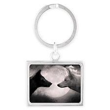 Best selling wolf Landscape Keychain