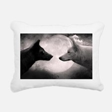 Best selling wolf Rectangular Canvas Pillow