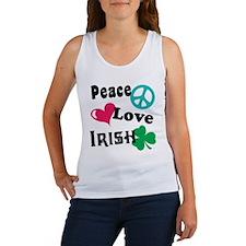 Peace Love Irish Women's Tank Top