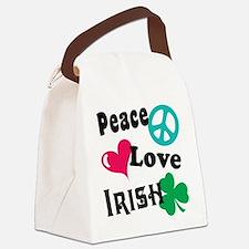 Peace Love Irish Canvas Lunch Bag
