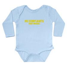 No Complaints Only Moans Long Sleeve Infant Bodysu