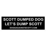Scott Dumped Dog, Let's Dump Scott sticker