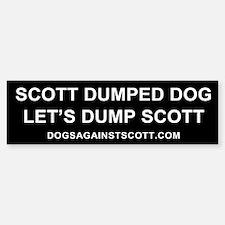 Scott Dumped Dog, Let's Dump Scott sticker