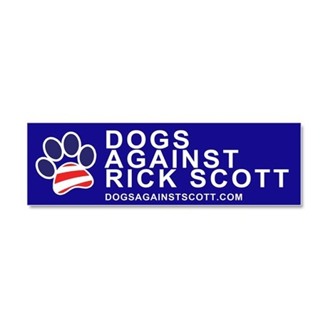 "Dogs Against Rick Scott ""Paw"" magnet"