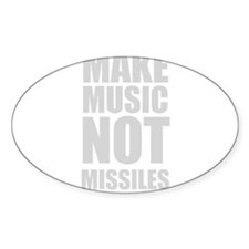 Make Music Not Missiles Decal