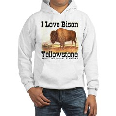 I Love Bison Yellowstone Nati Hoodie