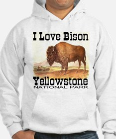 I Love Bison Yellowstone Nati Hoodie