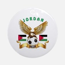 Jordan Football Design Ornament (Round)
