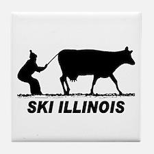 The Ski Illinois Shop Tile Coaster