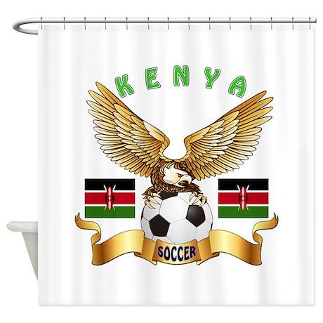 Kenya Football Design Shower Curtain