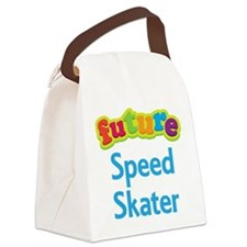 Future Speed Skater Canvas Lunch Bag