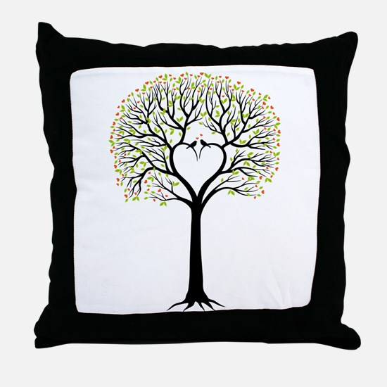 Love tree with heart branches, birds and hearts Th
