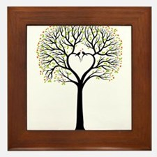 Love tree with heart branches, birds and hearts Fr