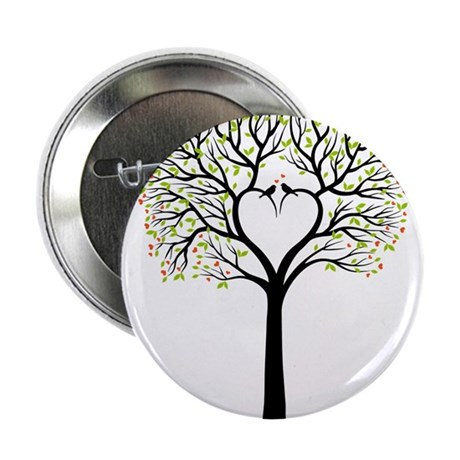 Love tree with heart branches, birds and hearts 2.