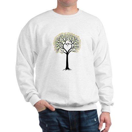 Love tree with heart branches, birds and hearts Sw