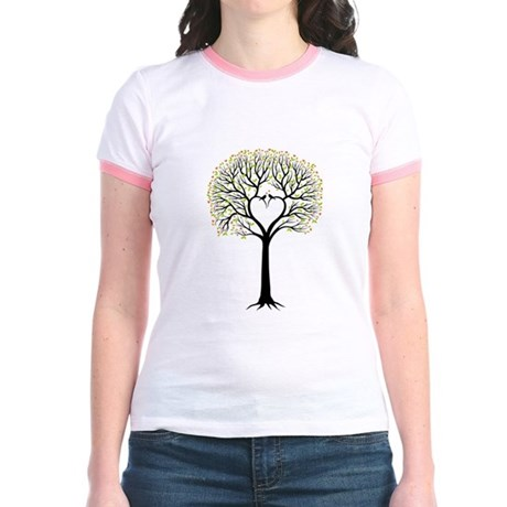 Love tree with heart branches, birds and hearts Jr