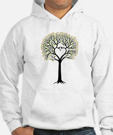 Love tree with heart branches, birds and hearts Ho