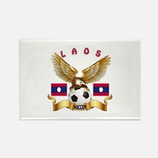 Laos Football Design Rectangle Magnet