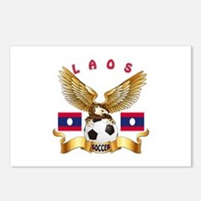 Laos Football Design Postcards (Package of 8)