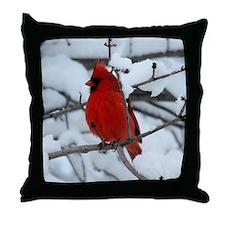 Cute Cardinal bird Throw Pillow
