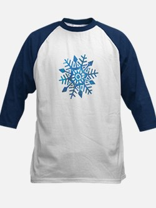 Serene Snowflake Kids Baseball Jersey