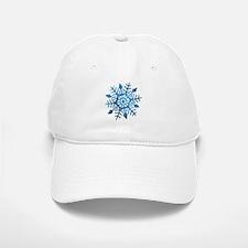 Serene Snowflake Baseball Baseball Cap
