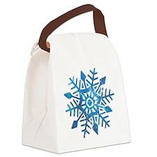 Serene Snowflake Canvas Lunch Bag