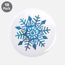 """Serene Snowflake 3.5"""" Button (10 pack)"""