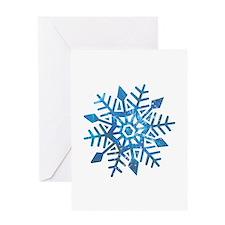 Serene Snowflake Greeting Card