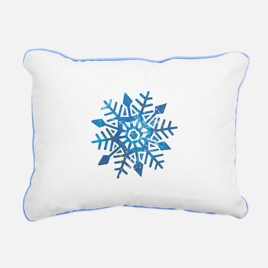 Serene Snowflake Rectangular Canvas Pillow