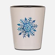Serene Snowflake Shot Glass