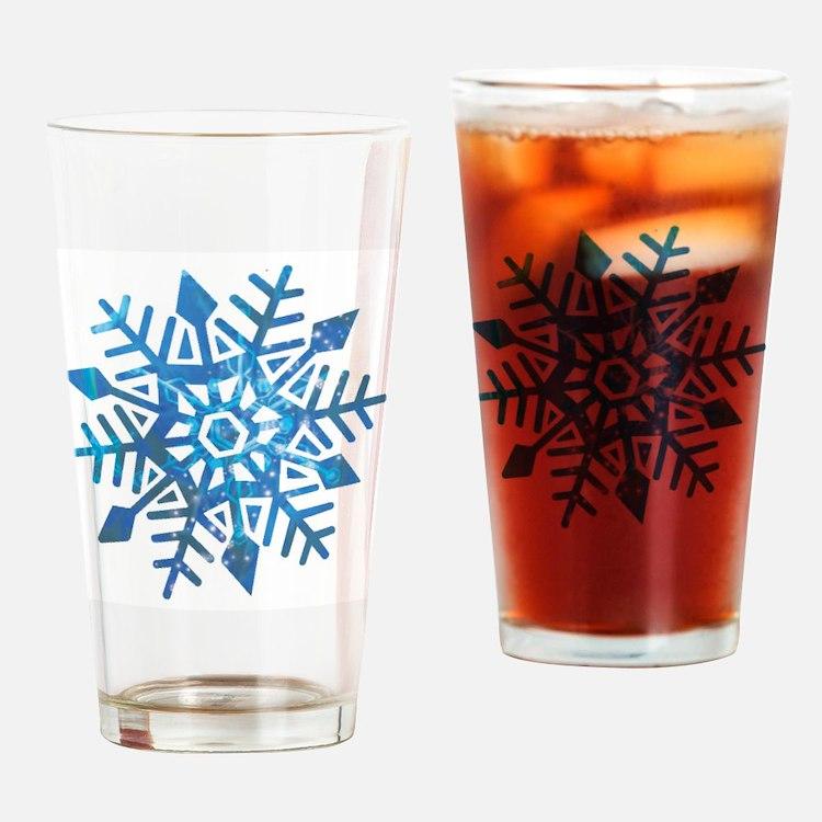 Serene Snowflake Drinking Glass