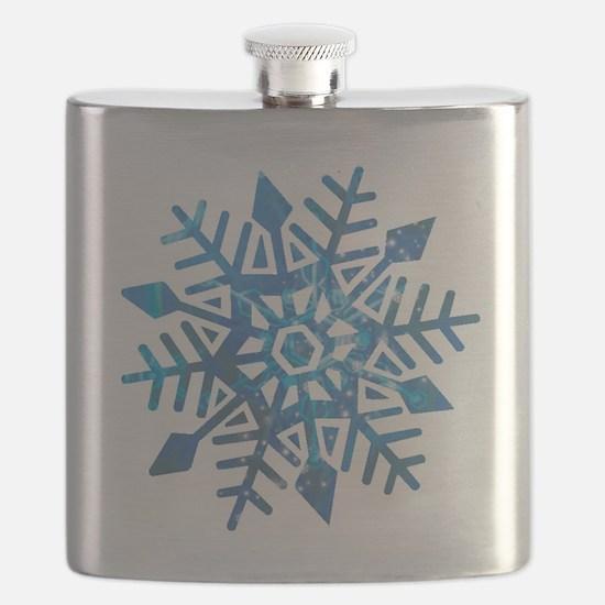 Serene Snowflake Flask