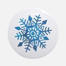 Serene Snowflake Ornament (Round)
