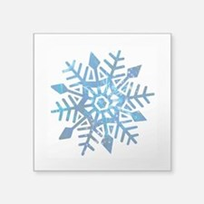 "Serene Snowflake Square Sticker 3"" x 3"""